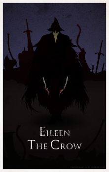 Bloodborne Minimal Poster - Eileen the Crow by Ob-servant