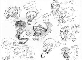 BoredRandomArtTime!- Evil Speed Sketchies! by Brashgirl901