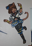 Mithra Dancer - Perler by Xylophonia