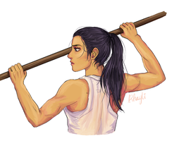 Muscly Reyna by Rhaylee
