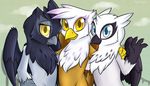 Commission: Gryphon Gals by Spirit-Cookie