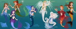 All My OC's as Mermaids by Arimus79