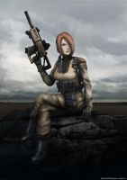 Concept art for Female Soldier by FrostKnight-IcE