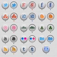 Freebie: 3D Circle Social Icons by NatalyBirch