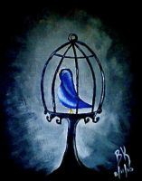 The Caged Bird by drowning-in-you