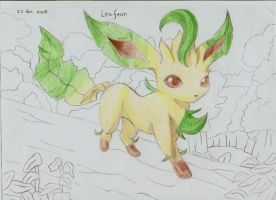 Leafeon by Aria-Pentagram