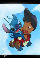 Lilo and Stitch Free Fall by chocolatecherry