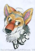 Kale badge by Grion