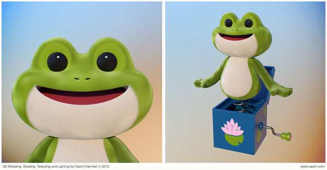 Frog 3D Cartoony Character by pixelbudah