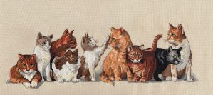 Nine Lives Kitties by pinkythepink
