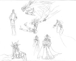 Dynamism Sketches by ArtistMeli