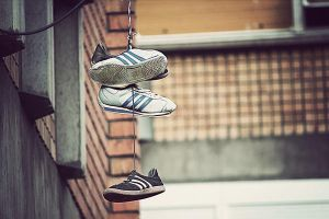 Shoes on a Wire by geekchix