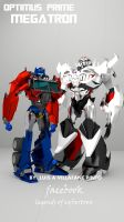 my optimus and megatron as top models by doctorcocolia