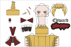 edward elric pattern by Grim-paper