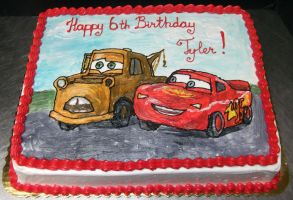 Another Cars cake by Saya1984