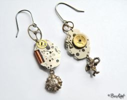 Steampunk Earrings by BaziKotek