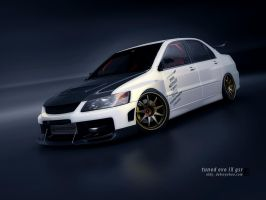 EVO IX tuned - white by 3dmanipulasi
