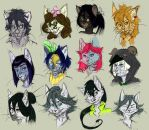 cat OCs by Silverbloodwolf98