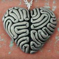 NEW I heart brains-grey by beatblack