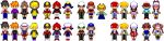 Pokemon Special Sprites: Black and White (bigger) by PrettySoldierPetite