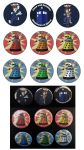 Doctor Who Kitties Button Set by NeroStreet