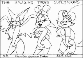 The Amazing Three Supertoons by Megamink1997