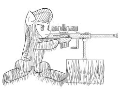 Octavia With Ghillie Suit and a Barrett by LigerStorm