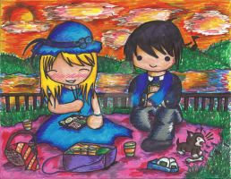 Royai:A Picnic by the Ocean by catsandkitties