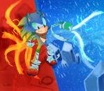 Sawnik Boom Fire and Ice by xXRed-InfernoXx
