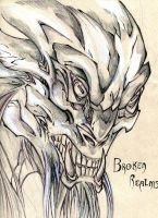 Broken Realms - Hell Beast by winddragon24