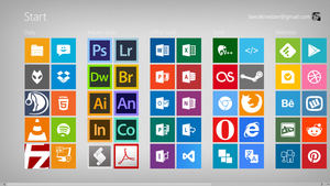 Windows 8 Start Metro Tiles by bercikmeister