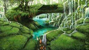 Lupinar's Waterfall by Tatchit