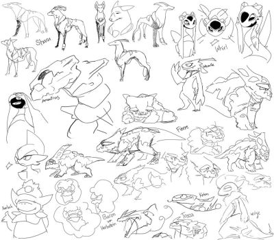 Pkmn: Practice Sketches by asyrill