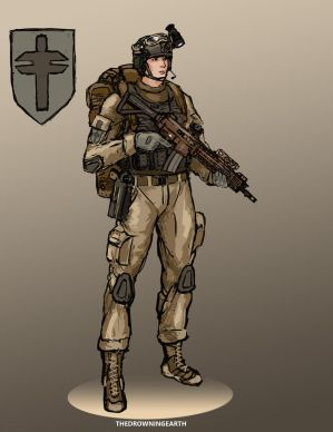 Vesitanian Crusader infantryman by TheDrowningEarth