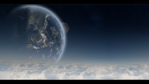 Wallpaper Spaceart - the other world by Mataraelfay