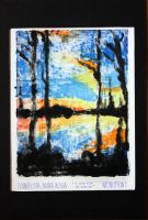 Sunset Monoprint by ffdiaries958