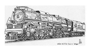 UP Challenger - line drawing by zekesgraphics