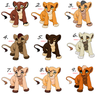 Cub Litters (Closed) by Sukida-Adopts