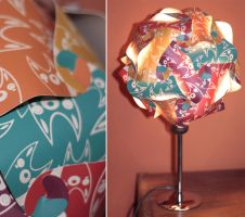 Screenprinted foxes lamp by mjdaluz