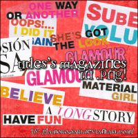 Titles's magazines in PNG by glamorousart