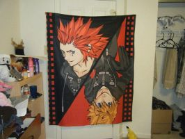 Kingdom Hearts Axel and Roxas fan art blanket by Kays-Fanart-Bedsets