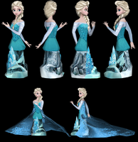 Elsa (Frozen) Bust Papercraft by Sabi996