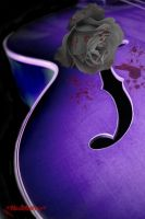 a dark violin with rose by daemonia-mil