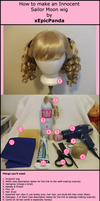Sailor Moon Wig Tutorial Part1 by xEpicPanda