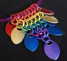 Rainbow Triangle Scale Necklace by ofmyhats