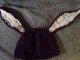 Purple Floppy Bunny Hat by For-The-Darkspear