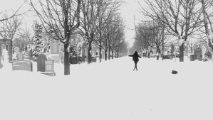 Its snowing like its the end of the world by RosalinaVmbraticus