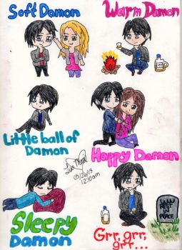 Soft Damon, Warm Damon, Little Ball of Damon by AidensBiggestFan