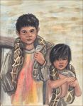 Two Boys from Cambodia by Leochi