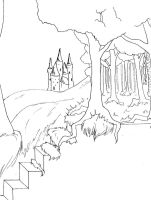 Into the Woods posterlineart2 by gowa